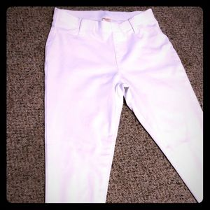 White jeggings with pockets NWOT sz 4/6